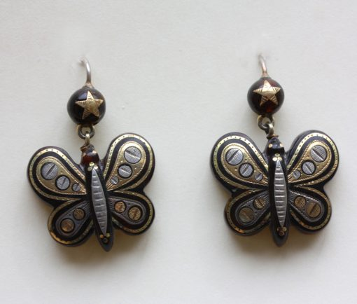 pique butterfly earrings