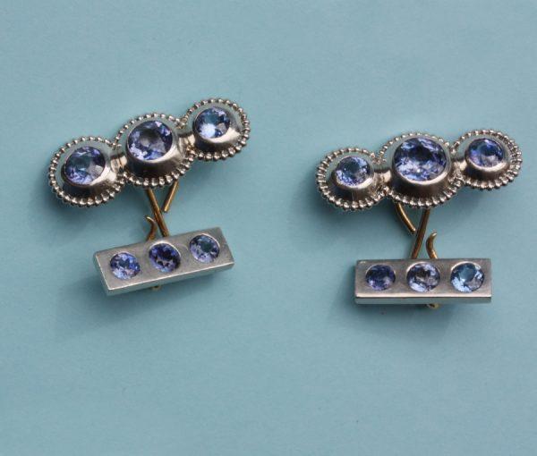 Montana sapphire cufflinks