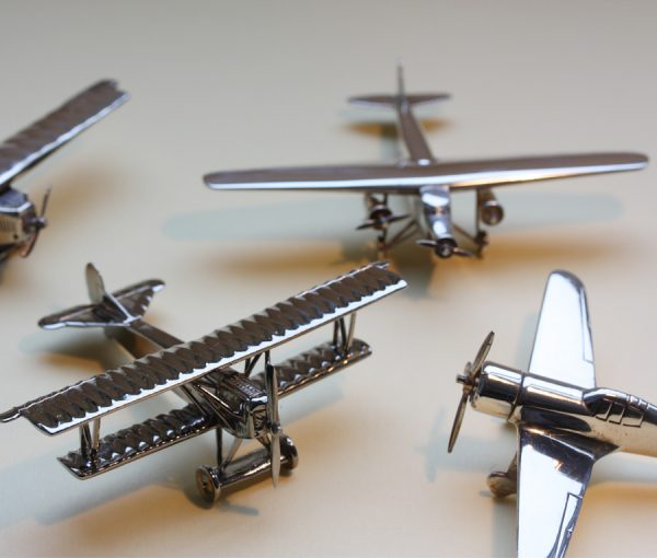 9 miniature Fokker airplaines