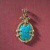 Egyptian revival scarab pendant