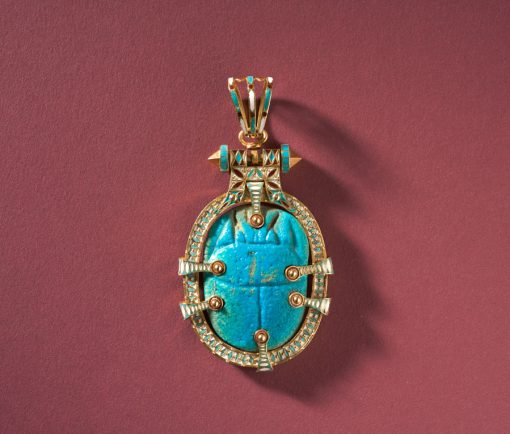Egyptian revival scarab pendant