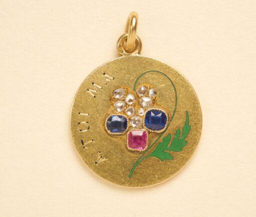 romantic puzzle pendant