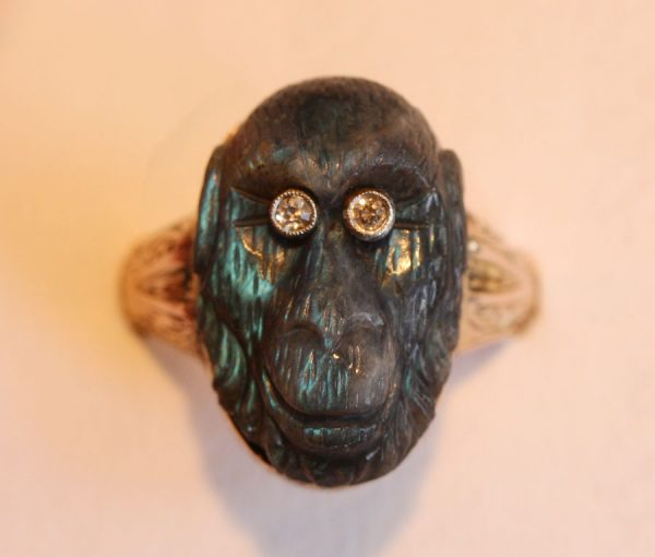 labradorite monkey ring