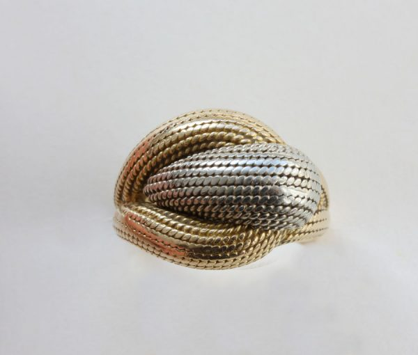 two colored gold dress ring