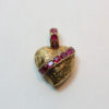 ruby and gold heart pendant