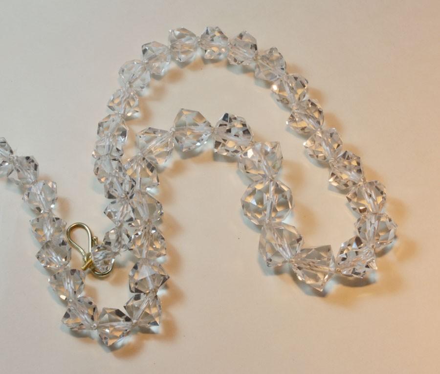 Rock crystal bead necklace inez stodel rock crystal bead necklace mozeypictures Image collections