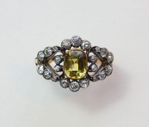 diamond and chrysoberyl ring