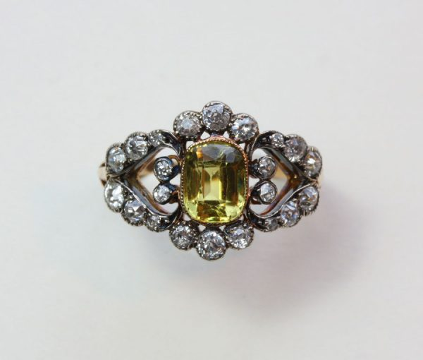 diamond and chrysoberyl ring