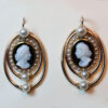 pearl and cameo earrings