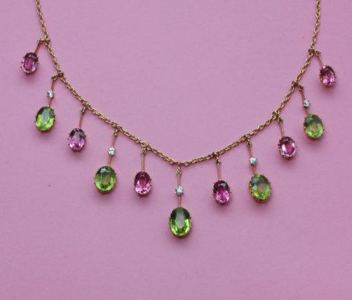peridot and tourmaline necklace