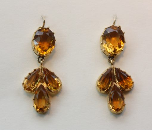 Brazilian citrine earrings