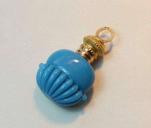 blue opaline perfume flask