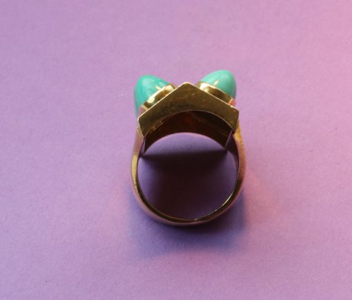 turquoise and amazonite ring