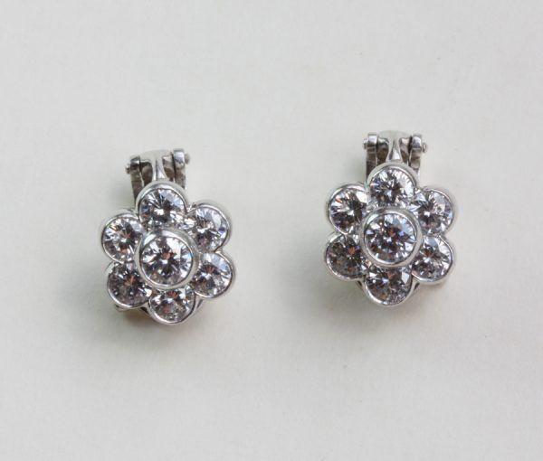diamond earclips