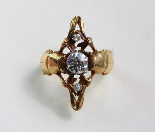 Art Nouveau scarab ring