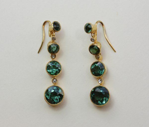 tourmaline and diamond earrings