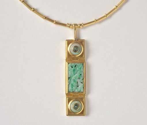 jade and tourmaline necklace