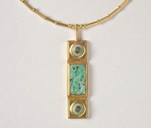 jade and tourmaline necklace