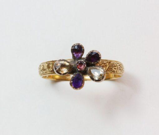 harlequin violet ring