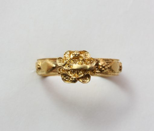 18th century gold buckle ring