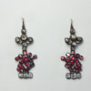 diamond and ruby giardinetto earrings