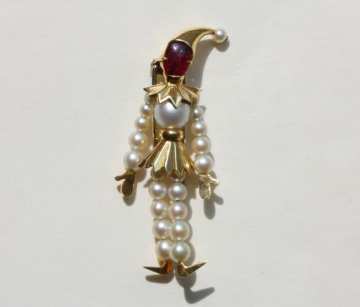 pierrot brooch
