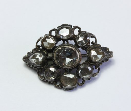 silver diamond brooch
