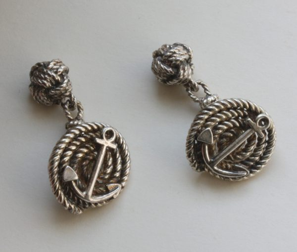 silver nautical cufflinks