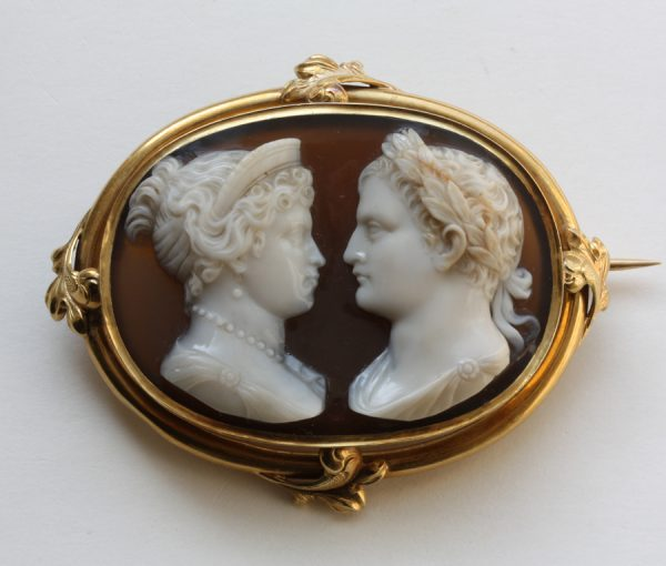 Napoleon & Marie Louise camee broche