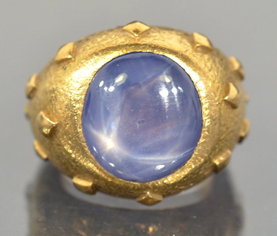 gold star sapphire ring - Inez Stodel