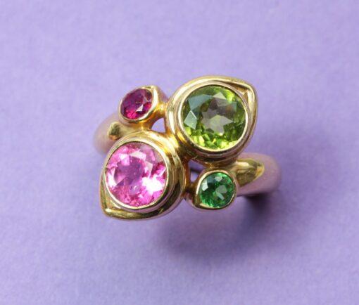 colorful René Boivin ring