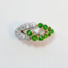 diamond and demantoid ring