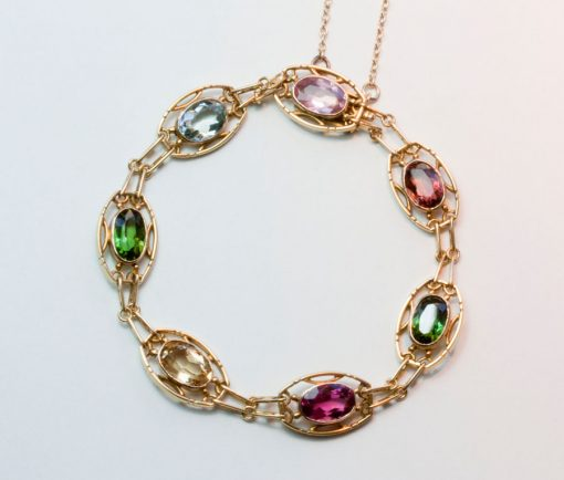 colorful gemset bracelet