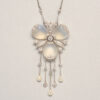 moonstone and pearl pendant