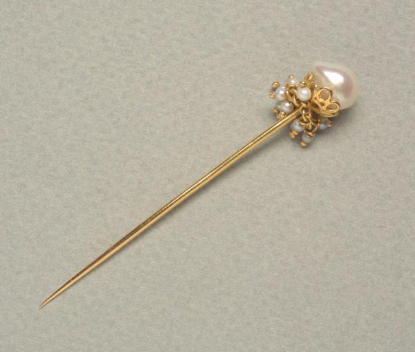 neo etruscan pearl stickpin
