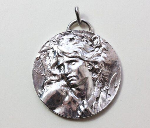 silver Orpheus pendant