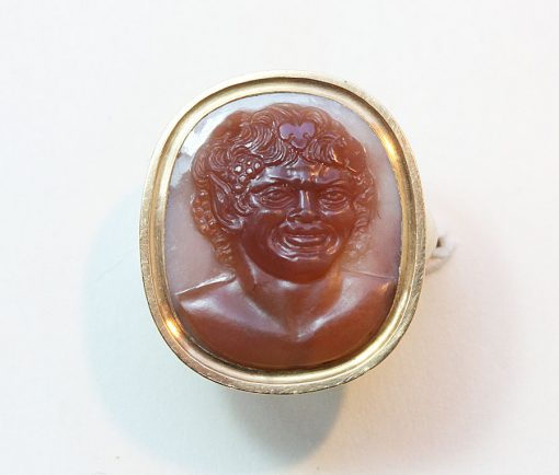 Bacchus cameo ring