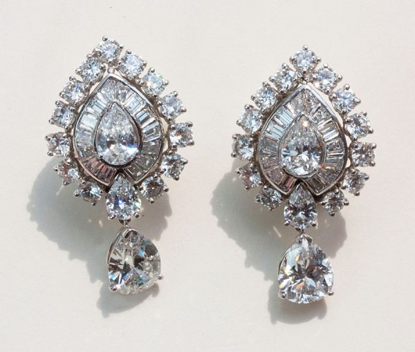 Indian taste diamond earrings