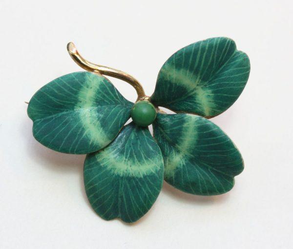 lucky clover brooch