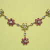 colored flower necklace
