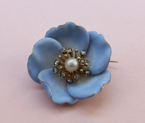 art nouveau flower brooch