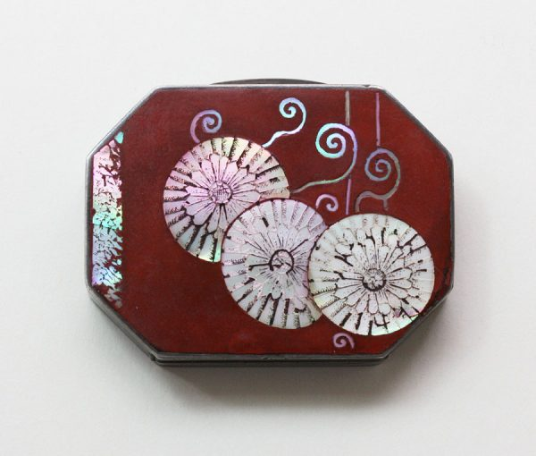 Japonese influenced chrysanthemum box