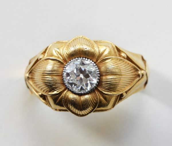 diamond and gold 'Burgtheatre Ring'