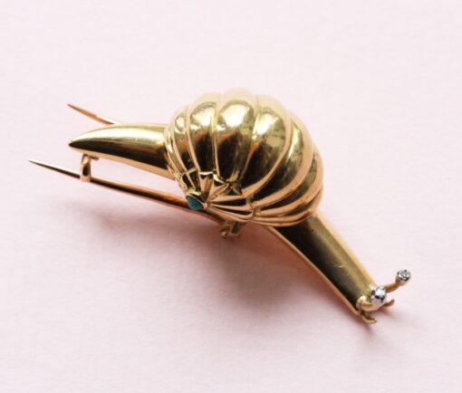 snail brooch
