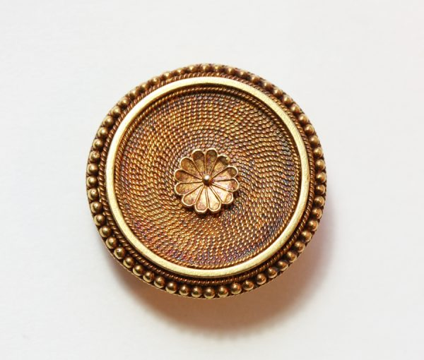 neo etruscan gold brooch