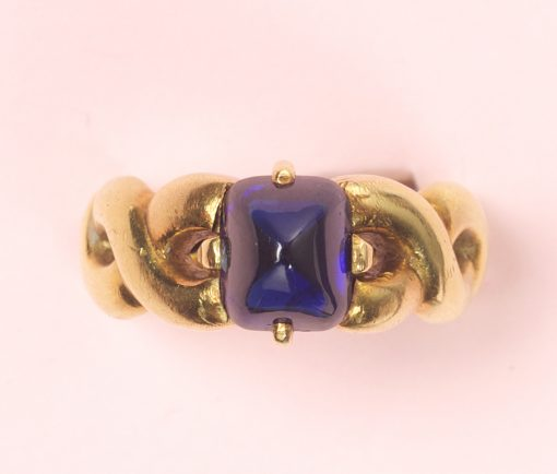 sugarloaf sapphire ring