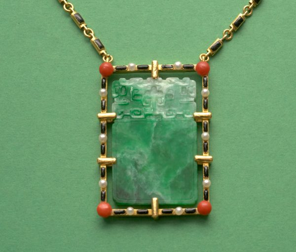 gold and jade necklace