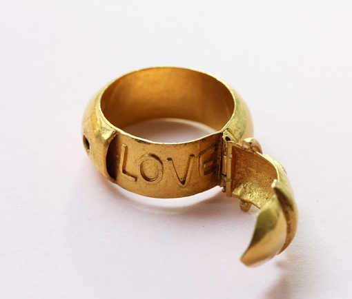 LOVE buckle ring