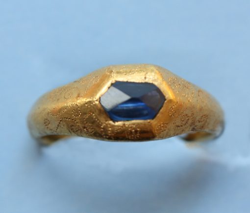 medieval sapphire and gold ring