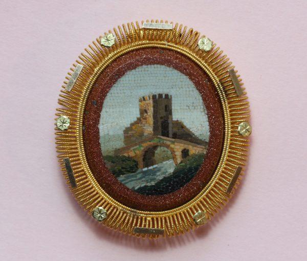Ponte Nomentano mosaic brooch